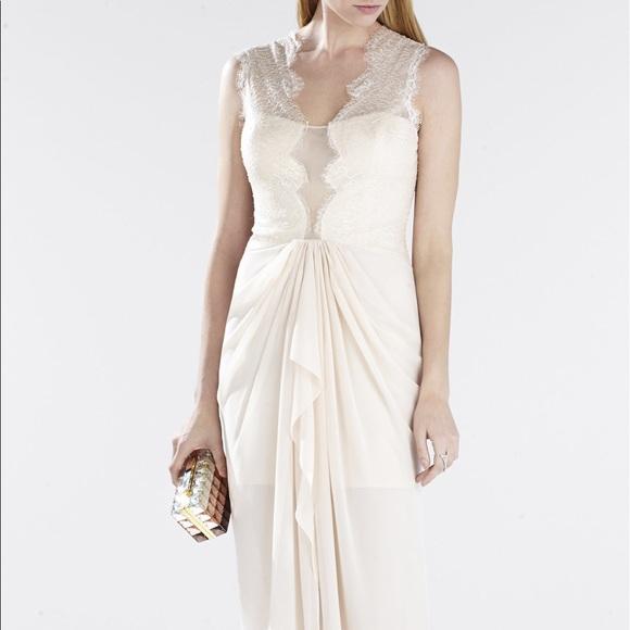 70 off bcbgmaxazria dresses skirts bcbg wedding dress maxi bcbg wedding dress maxi brandy lace pleated long junglespirit Images